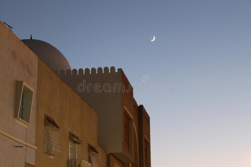 Tramonto arabo fotografie stock libere da diritti
