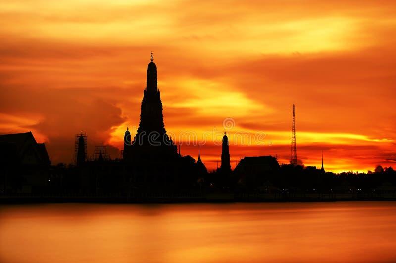 Tramonto a Bangkok fotografia stock