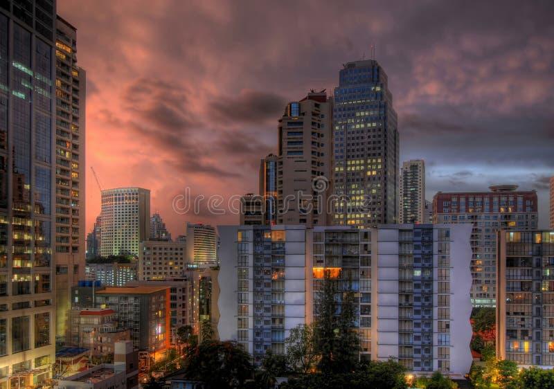 Tramonto a Bangkok fotografie stock libere da diritti