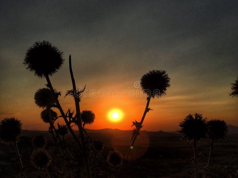 Tramonto in Cappadocia immagine stock