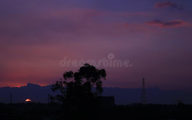 Tramonto colombiano fotografie stock