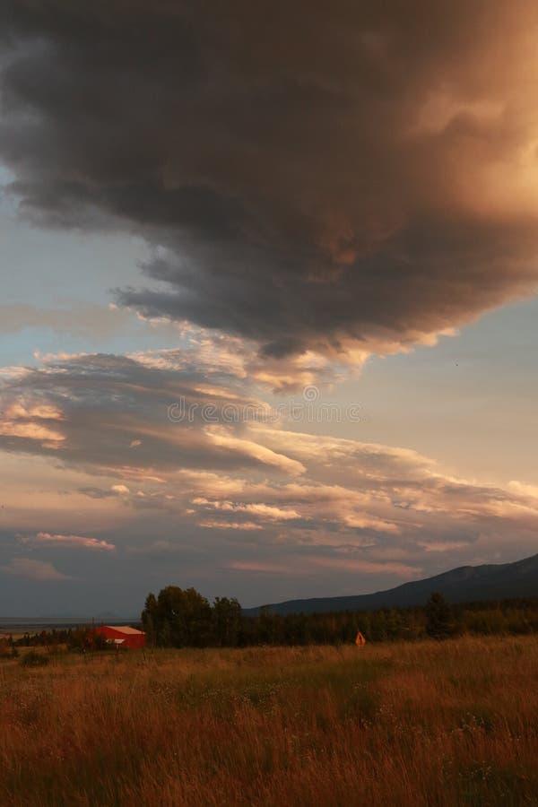 Tramonto in Colorado sudorientale immagini stock libere da diritti