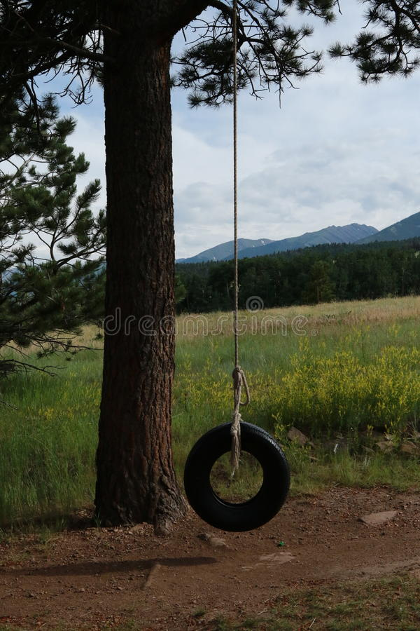 Tramonto in Colorado sudorientale fotografia stock