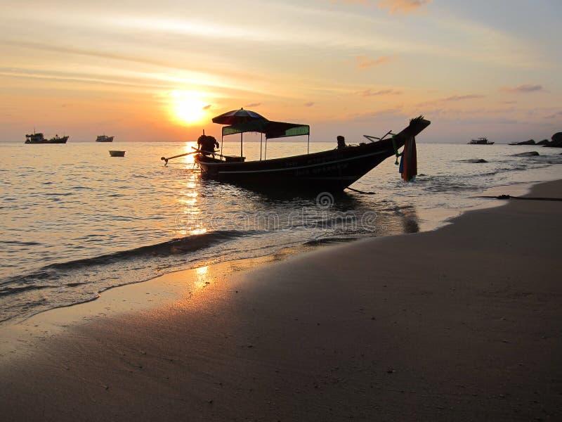 Tramonto come il la cosa migliore su Koh Tao Thailand immagini stock