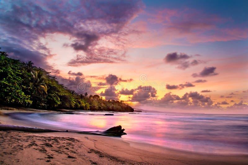 Tramonto in Costa Rica fotografia stock libera da diritti