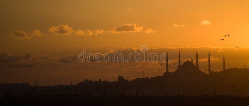 Tramonto a Costantinopoli immagine stock
