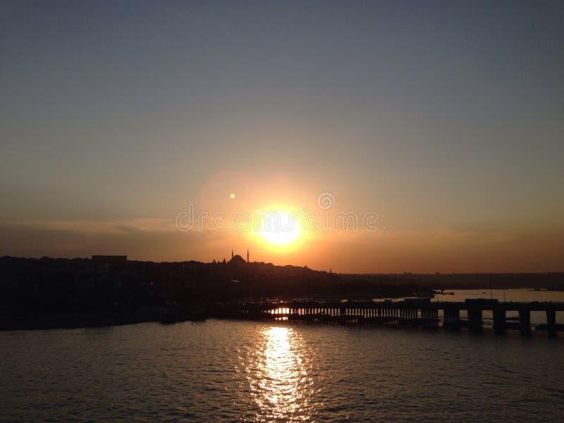 Tramonto a Costantinopoli fotografie stock