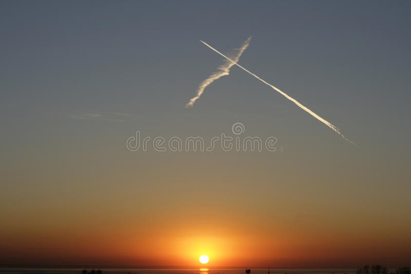 Tramonto del cielo fotografia stock libera da diritti