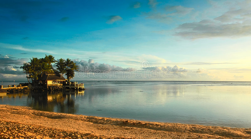 Tramonto del Fiji immagine stock libera da diritti