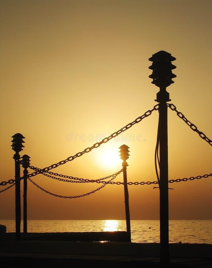 Download Tramonto del mare immagine stock. Immagine di sundown, litorale - 215047