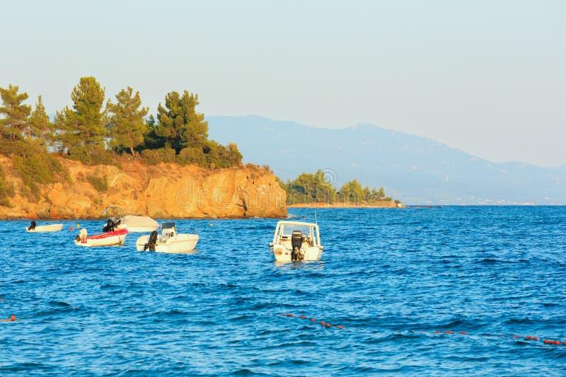 Tramonto del mare, Grecia fotografia stock libera da diritti