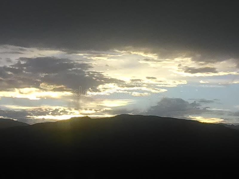 tramonto 3 del mojave fotografia stock libera da diritti