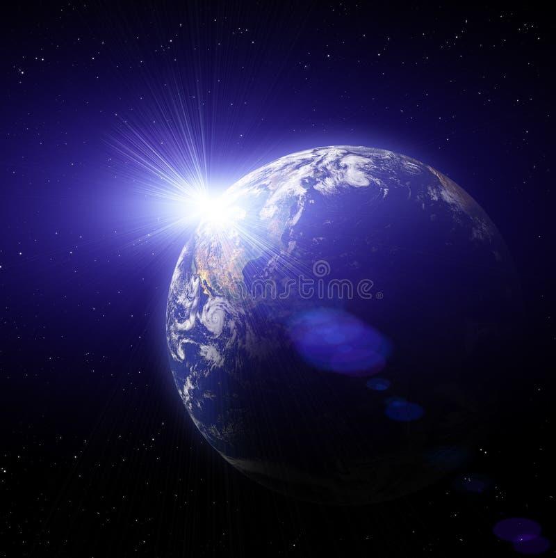 Tramonto del pianeta della terra royalty illustrazione gratis