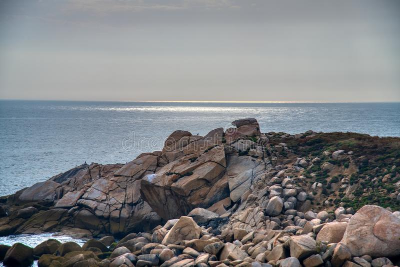 Tramonto dell'Oceano Atlantico fotografia stock