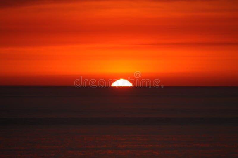 Tramonto della costa ovest fotografia stock libera da diritti