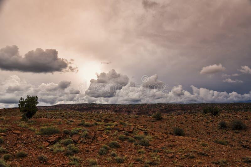 Tramonto della nuvola di 3 D immagini stock