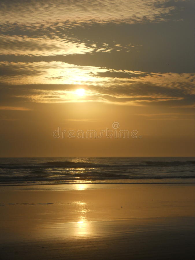 Tramonto della spiaggia di Florida immagini stock