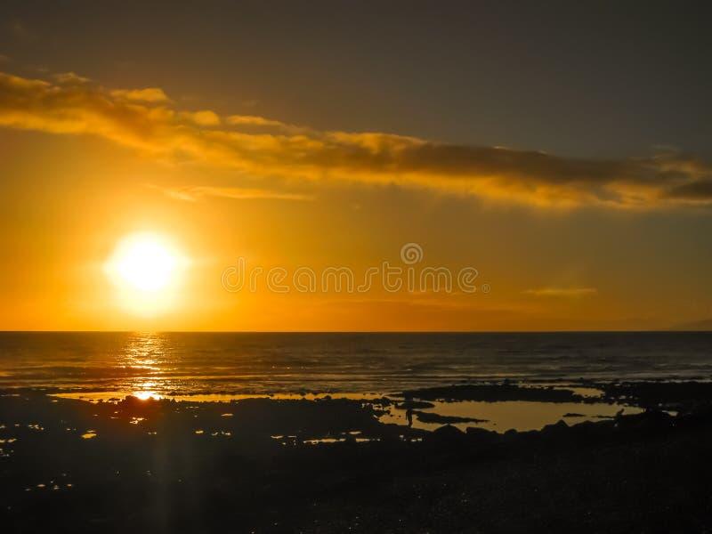 Tramonto delle Americhe di las di Playa de fotografie stock libere da diritti