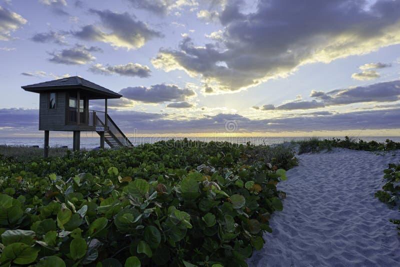 Tramonto in Delray Beach Florida immagini stock libere da diritti