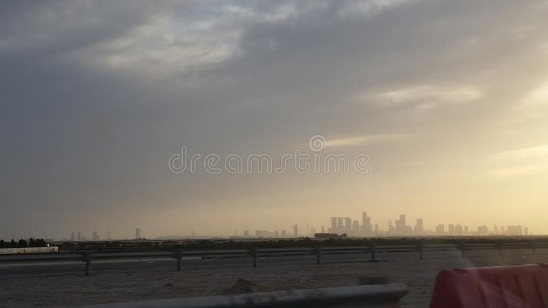Tramonto di Abu Dhabi fotografia stock libera da diritti