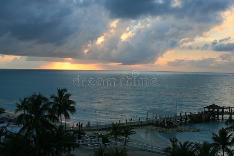 Tramonto di Bahama fotografia stock libera da diritti