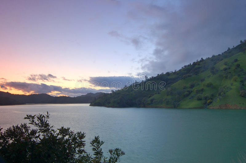 Tramonto di berryessa del lago fotografia stock libera da diritti