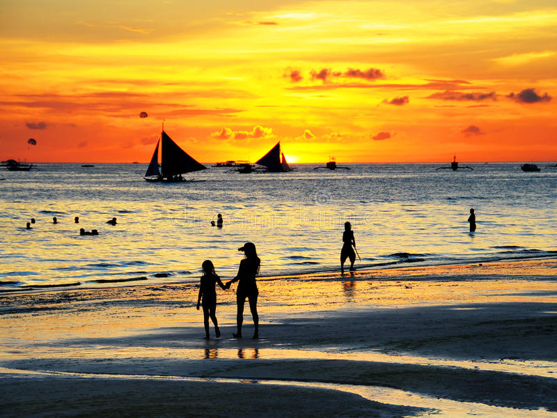 Tramonto di Boracay immagini stock libere da diritti