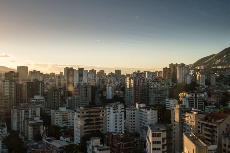 Tramonto di Caracas, vista ad ovest immagini stock