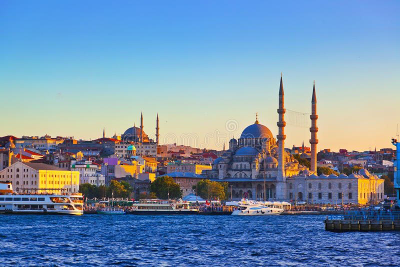 Tramonto di Costantinopoli fotografia stock