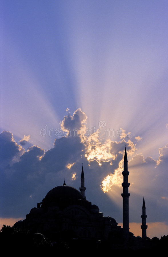Tramonto di Costantinopoli fotografia stock libera da diritti