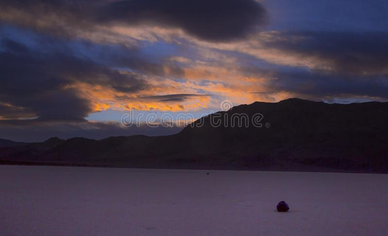 Tramonto di Death Valley fotografia stock libera da diritti