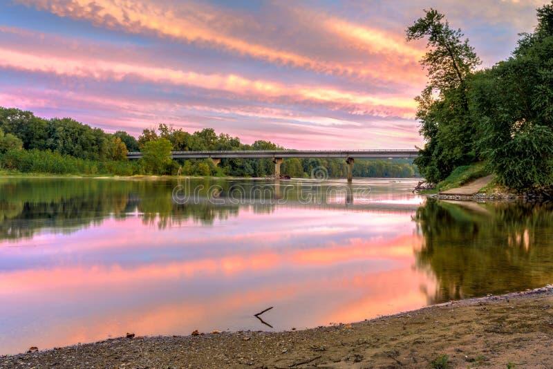 Tramonto di HDR su James River immagine stock libera da diritti
