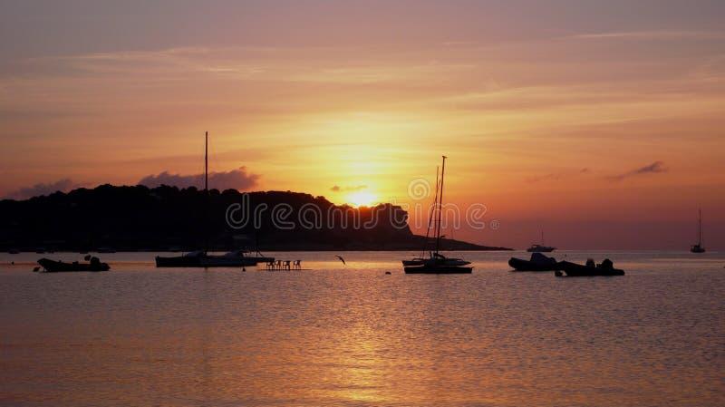 Tramonto 3 di Ibiza immagini stock libere da diritti