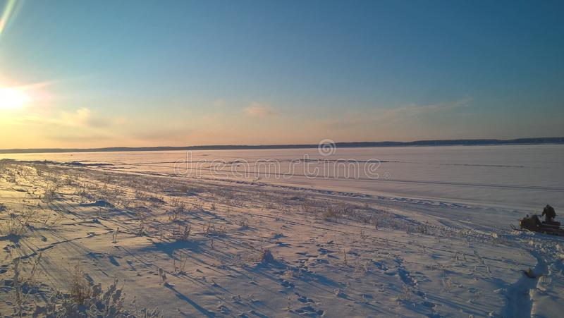 Tramonto di inverno fotografie stock libere da diritti