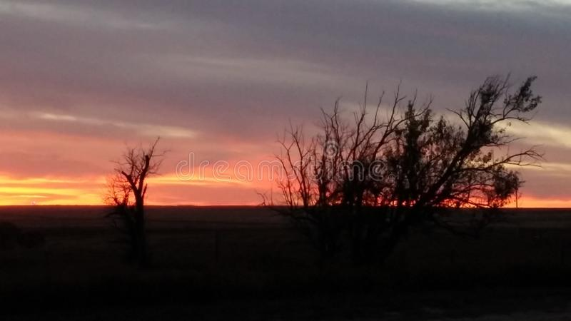 Tramonto di Kansas fotografia stock