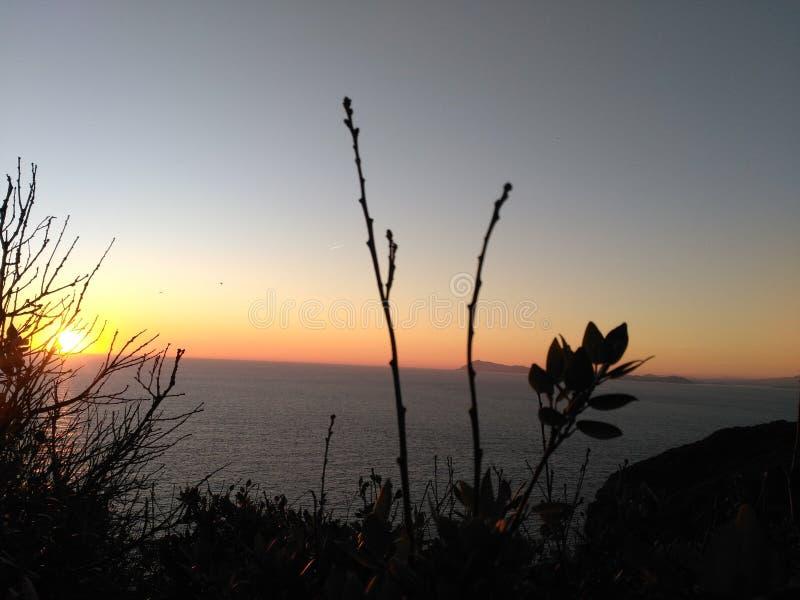 Tramonto di Méditerranean fotografie stock libere da diritti