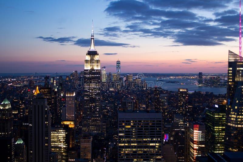 Tramonto di New York fotografia stock