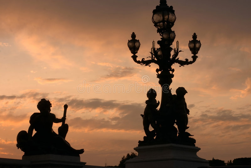 Tramonto di Parigi fotografia stock libera da diritti