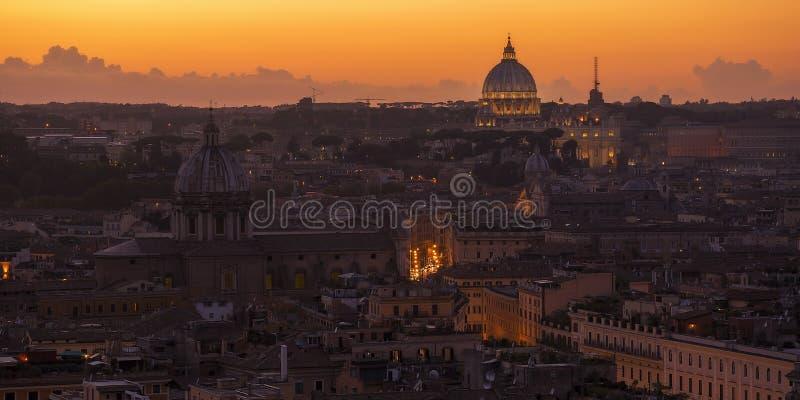 Tramonto di Roma fotografie stock