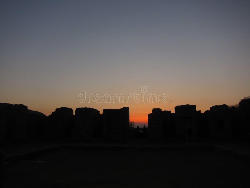 Tramonto di rovina di Taksilla fotografie stock libere da diritti