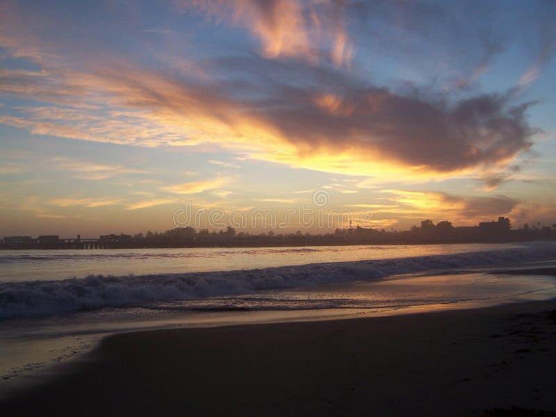 Tramonto di Santa Cruz fotografie stock libere da diritti