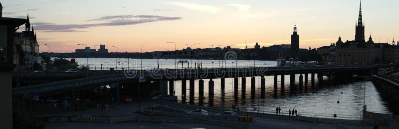 Tramonto di Stoccolma settembre immagini stock