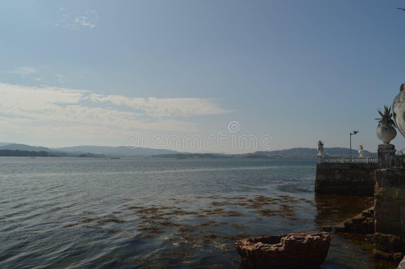Tramonto di stordimento di Bahia In A sull'isola di Toja della La Natura, architettura, storia, viaggio 18 agosto 2014 Isla De La fotografia stock
