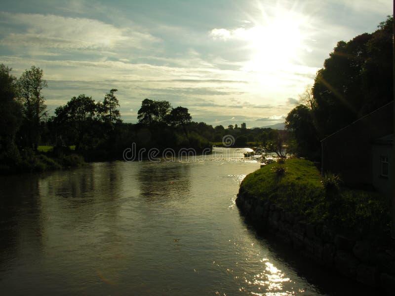 Tramonto di Suir del fiume fotografia stock libera da diritti