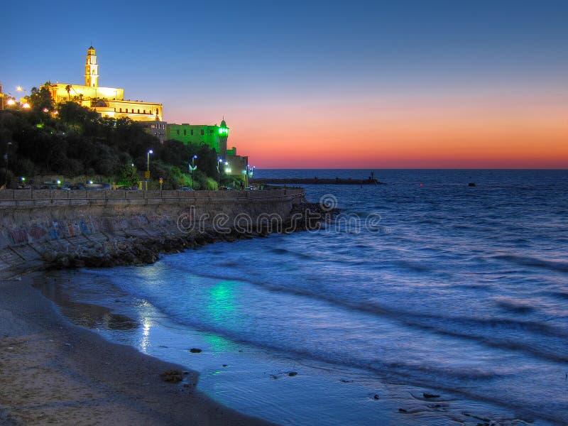 Tramonto di Tel Aviv Jaffa, Israele immagini stock libere da diritti