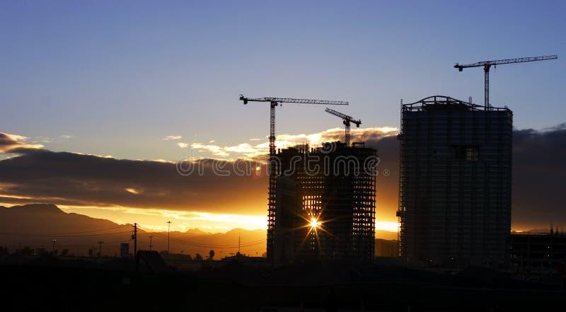 Tramonto di Vegas fotografie stock