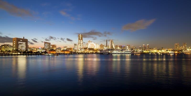 Tramonto di Yokohama Osanbashi fotografia stock libera da diritti