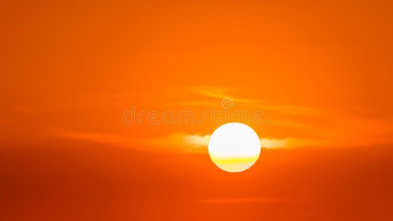 Tramonto, disco solare fotografia stock