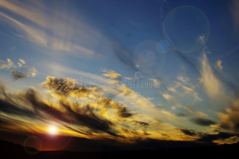 Tramonto e nubi fotografie stock libere da diritti
