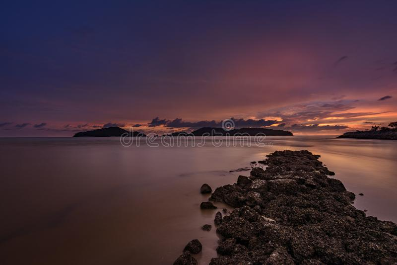 Tramonto evidente l'oceano fotografie stock libere da diritti